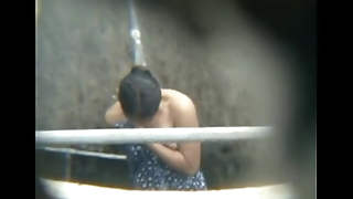 Hott Son bathing Outdoor Captured From mOBliLe
