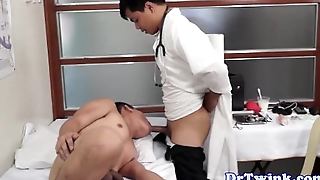 Gay asian doctor sucks and fucks twink