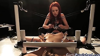 Lesbo sit down wax covered