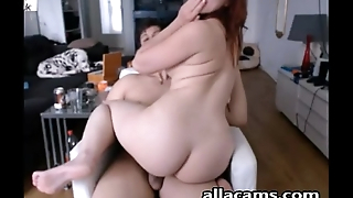 Amateur couple on webcam fucking!